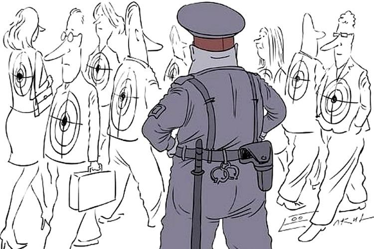 А в полиции - радужная тишь и благодать