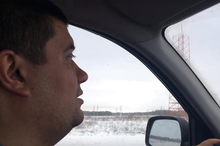 На севере Саратовской области лег первый снег. Видео