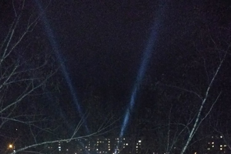 Балаковцев напугали неизвестные лучи в небе