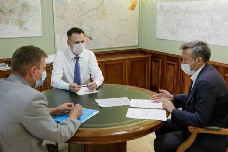 Директор Газпромтрансгаз Владимир Миронов и Александр Соловьев обсудили вопросы газоснабжения