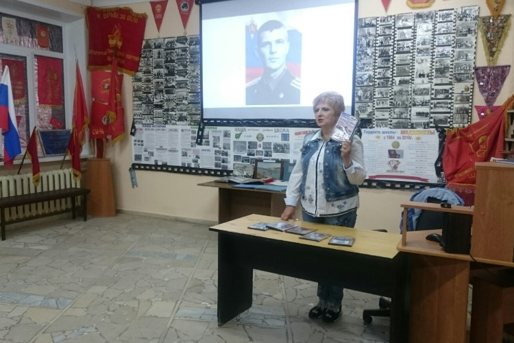 В 15 школе состоялась встреча с режиссёром документальных фильмов о прославленных земляках