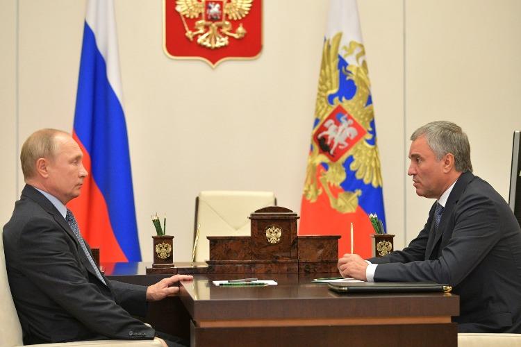 Володин доложил Путину о том, что коронавирусом переболел каждый пятый депутат госдумы