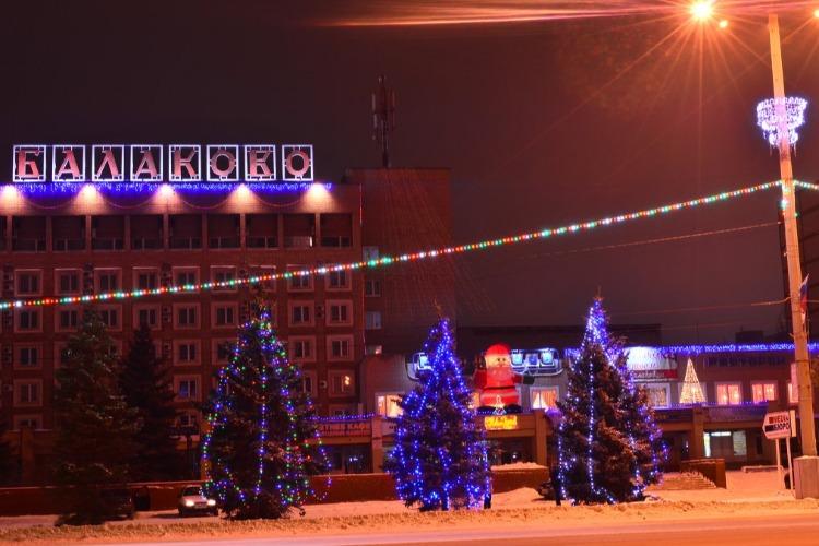 Балаково - третий в области по новогоднему убранству