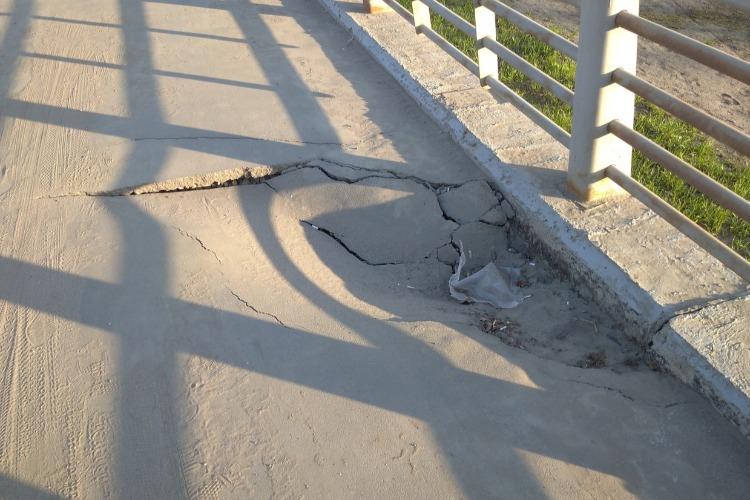 На мосту Победы в Балакове случился провал