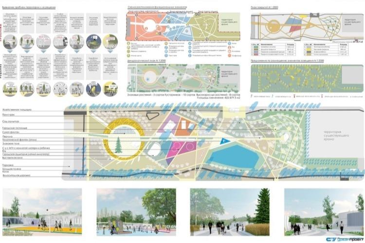 Проект парка отдыха № 3 от целой группы молодых архитекторов
