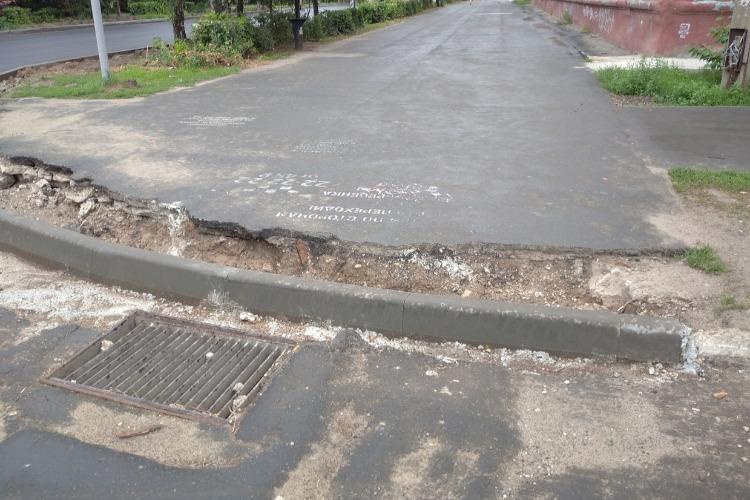 Плохому дорожнику дожди мешают. Открытие улицы Ленина в Балаково вновь отложено