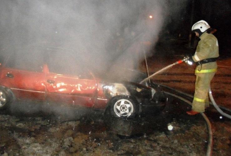 Вчера в Балакове горела Daewoo Nexia