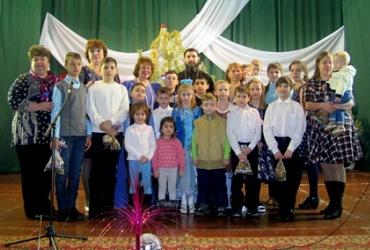 Христославцы пришли в гости к сельчанам