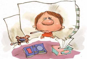 Госпитализировали с диагнозом ОРВИ  исключительно деток