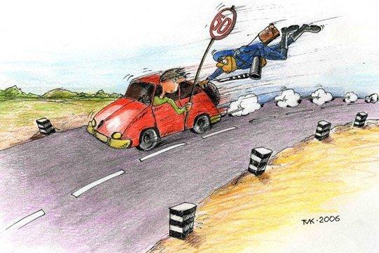 Есть идея штраф за превышение скорости увеличить в шесть раз