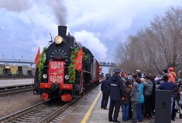 Встречаем ретро-поезд в прямом эфире с сайтом Sutynews.ru
