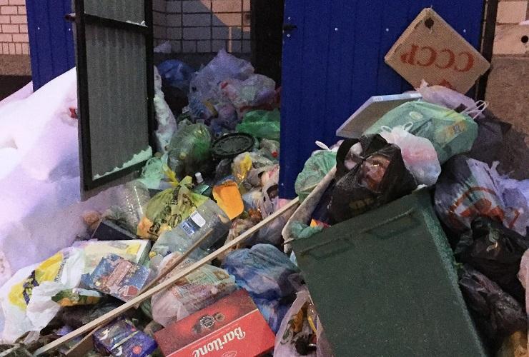 Со двора 10-го микрорайона неделю не вывозят мусор