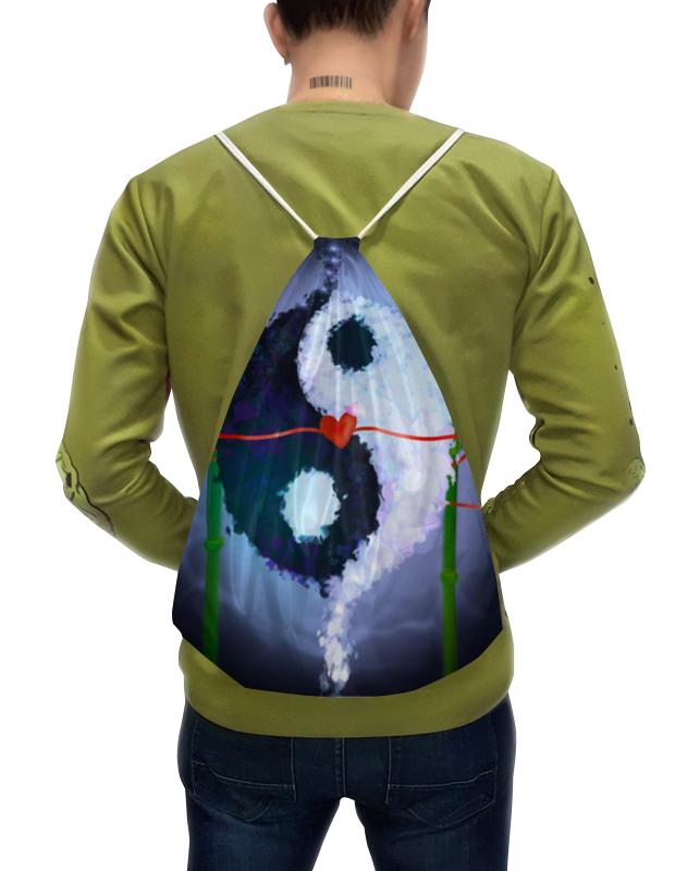 Фото - Printio Рюкзак-мешок с полной запечаткой Инь и ян printio чехол для samsung galaxy s8 объёмная печать цветочный букет в стеклянной вазе ян де хем
