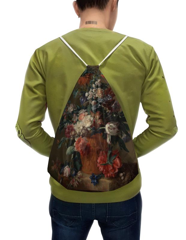 Фото - Printio Рюкзак-мешок с полной запечаткой Ваза с цветами (ян ван хёйсум) printio чехол для samsung galaxy s8 объёмная печать цветочный букет в стеклянной вазе ян де хем