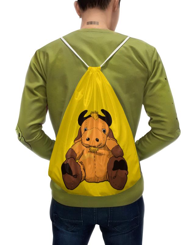 Фото - Printio Рюкзак-мешок с полной запечаткой Игрушка бычок. игрушка