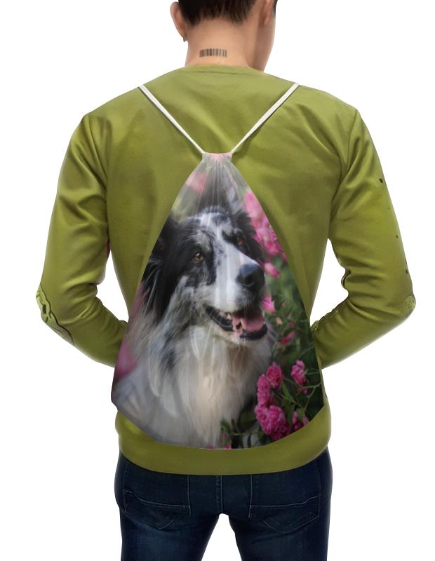 Printio Рюкзак-мешок с полной запечаткой цветы и пес