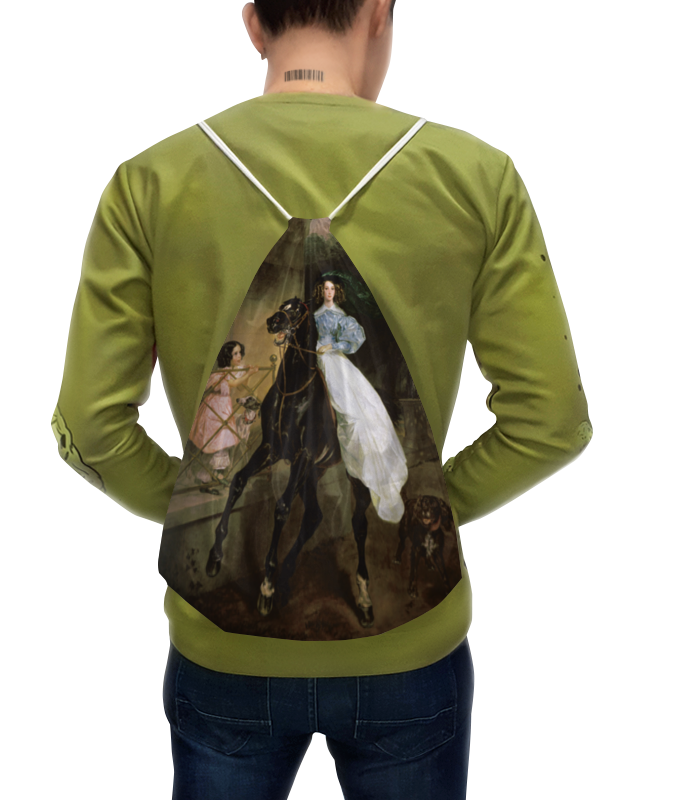 Фото - Printio Рюкзак-мешок с полной запечаткой Всадница (картина карла брюллова) картина