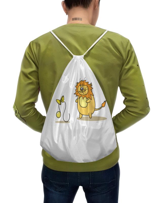 Фото - Printio Рюкзак-мешок с полной запечаткой Кот лев. подарок для льва подарок