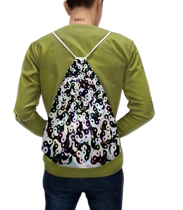 Фото - Printio Рюкзак-мешок с полной запечаткой Магический узор инь ян printio чехол для samsung galaxy s8 объёмная печать цветочный букет в стеклянной вазе ян де хем