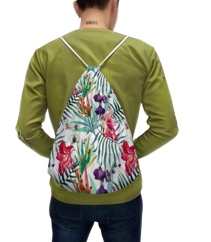 Printio Рюкзак-мешок с полной запечаткой Экзотические цветы