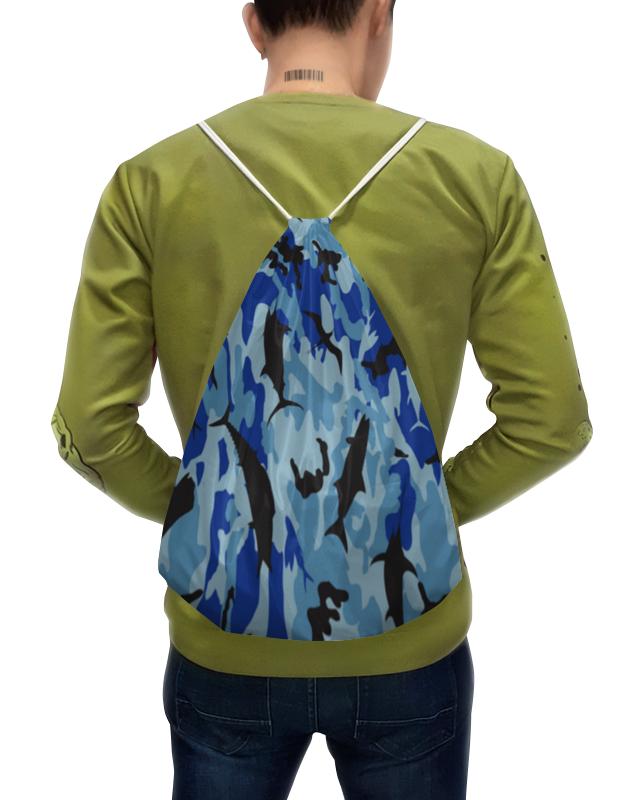 Printio Рюкзак-мешок с полной запечаткой Хаки море