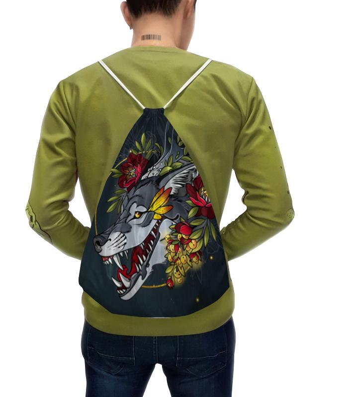 Printio Рюкзак-мешок с полной запечаткой Smiling wolf рюкзак printio рюкзак мешок с полной запечаткой forest dreams pattern