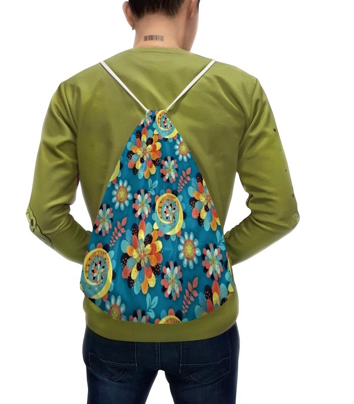 Printio Рюкзак-мешок с полной запечаткой Цветы в красках