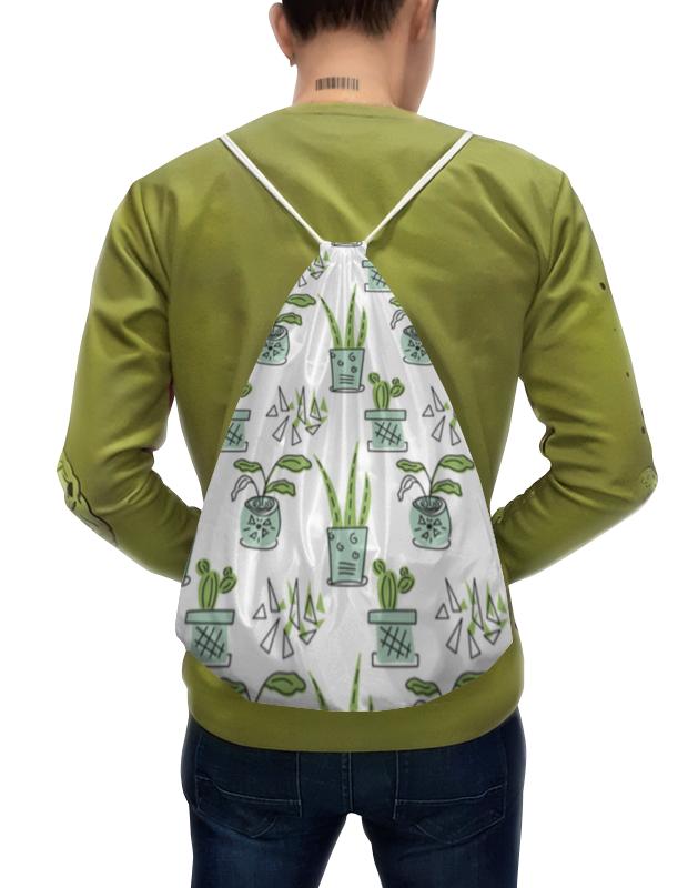 Printio Рюкзак-мешок с полной запечаткой Комнатные растения и кактусы