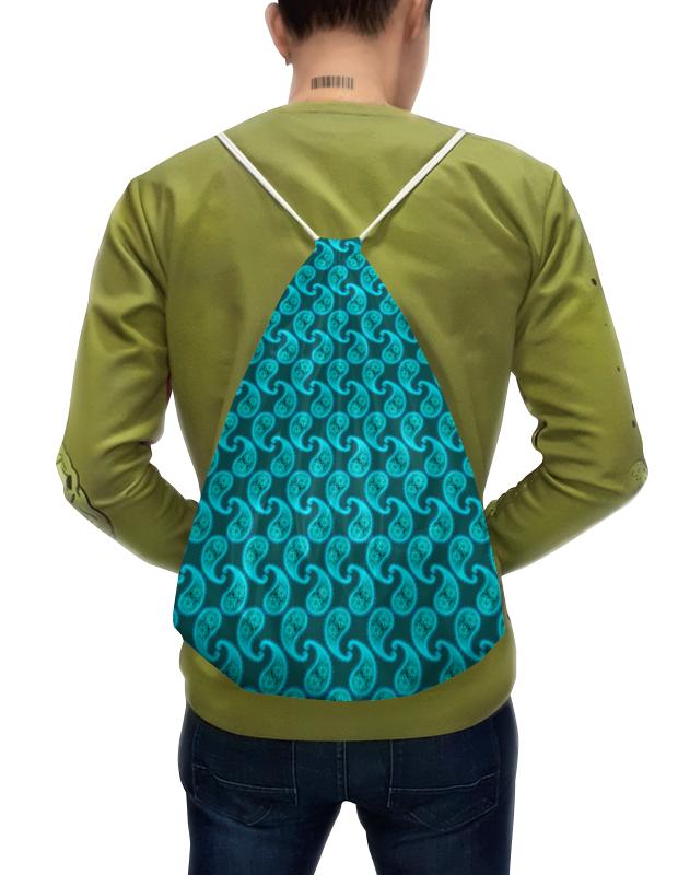 Printio Рюкзак-мешок с полной запечаткой Орнамент пейсли морская вода