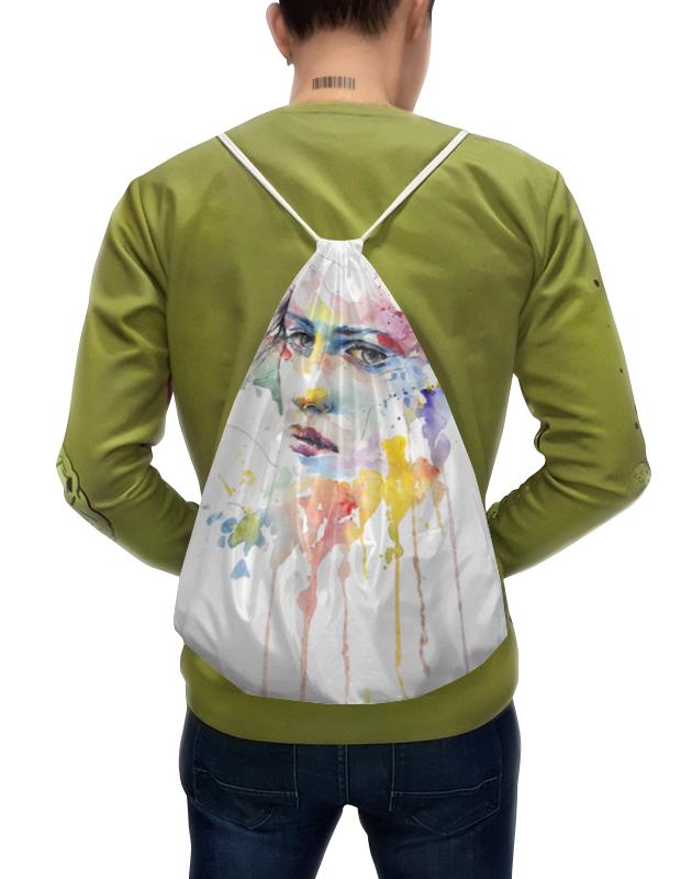 Фото - Printio Рюкзак-мешок с полной запечаткой Абстрактная акварель printio плакат a2 42×59 акварель