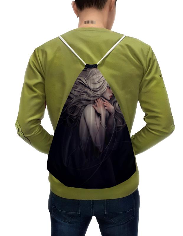 Фото - Printio Рюкзак-мешок с полной запечаткой Девушка-призрак printio плакат a3 29 7×42 модная девушка в платке фэшн иллюстрация