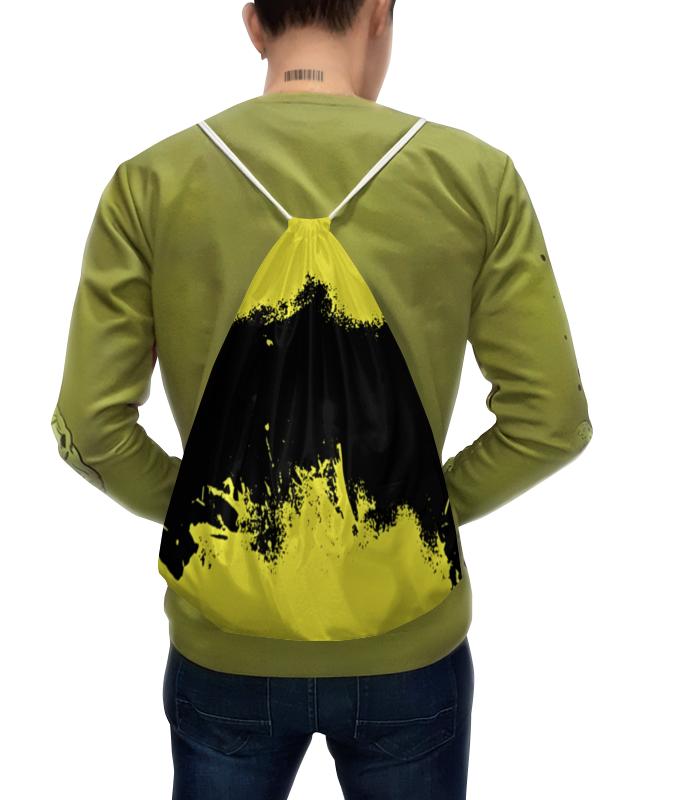 Фото - Printio Рюкзак-мешок с полной запечаткой Черно-желтые краски printio рюкзак мешок с полной запечаткой сине красные краски