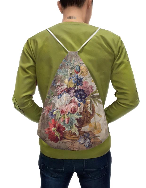 Printio Рюкзак-мешок с полной запечаткой Цветочный натюрморт (ян ван хёйсум) printio открытка цветочный натюрморт ян ван хёйсум