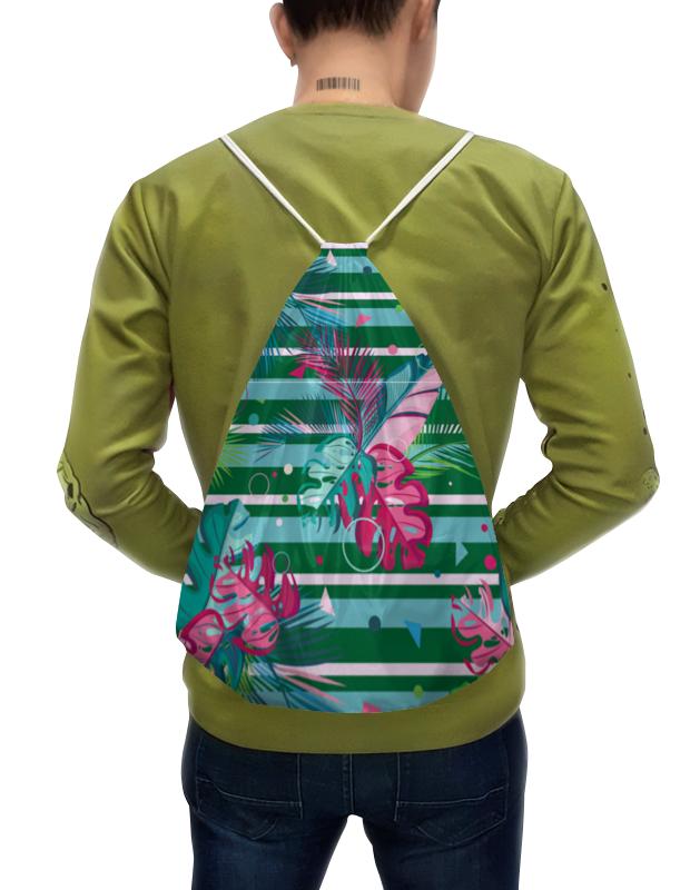 Фото - Printio Рюкзак-мешок с полной запечаткой Полосатые тропики printio подушка для шеи полосатые тропики