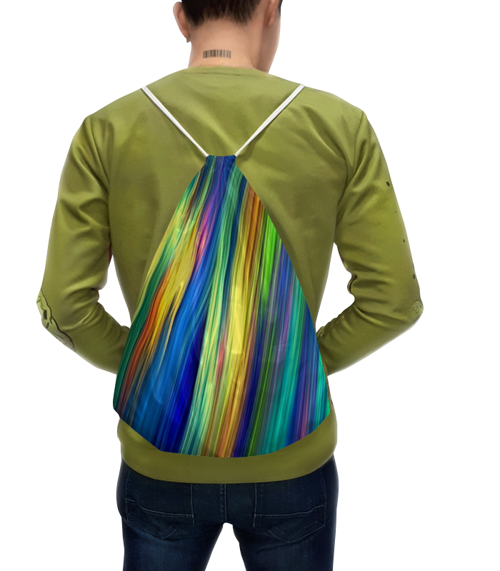 Printio Рюкзак-мешок с полной запечаткой Радужные линии joyarty рюкзак мешок радужные окошки bpa 207087 голубой