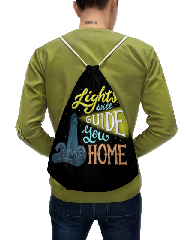 Фото - Printio Рюкзак-мешок с полной запечаткой Lights will guide you home most home