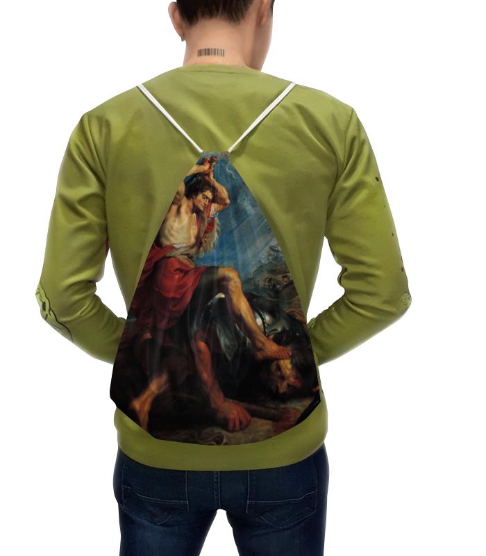 Фото - Printio Рюкзак-мешок с полной запечаткой Давид отрубает голову голиафу (картина рубенса) картина