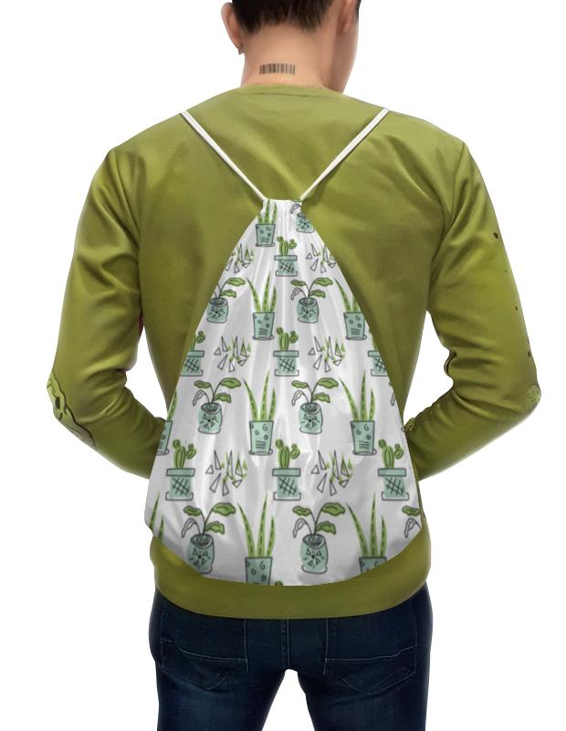 Printio Рюкзак-мешок с полной запечаткой Комнатные растения