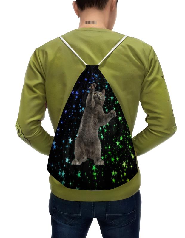 Фото - Printio Рюкзак-мешок с полной запечаткой кот и звезды printio рюкзак мешок с полной запечаткой китайские символы удачи и достатка