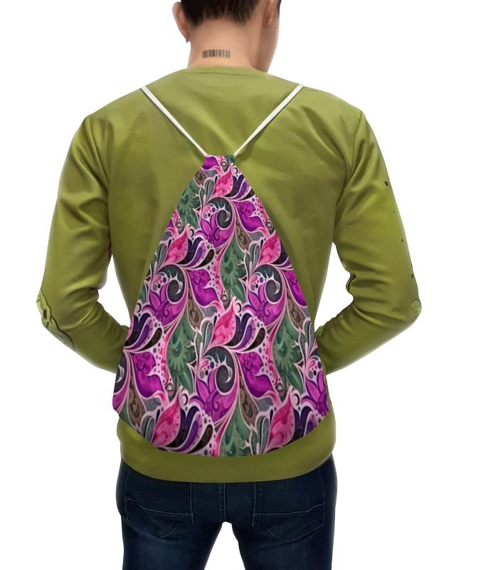Printio Рюкзак-мешок с полной запечаткой Цветы расписные