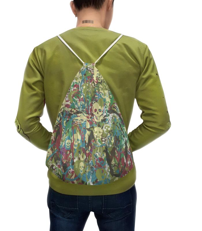 Фото - Printio Рюкзак-мешок с полной запечаткой Камуфляж с черепами printio рюкзак мешок с полной запечаткой грачи прилетели алексей саврасов