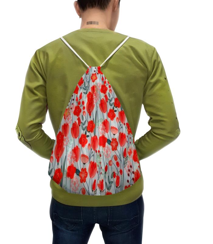Фото - Printio Рюкзак-мешок с полной запечаткой Красные цветы printio рюкзак мешок с полной запечаткой сине красные краски
