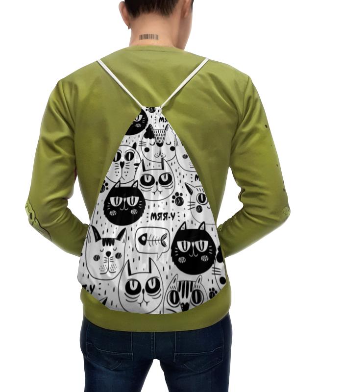 Printio Рюкзак-мешок с полной запечаткой Котики printio рюкзак мешок с полной запечаткой forest dreams pattern