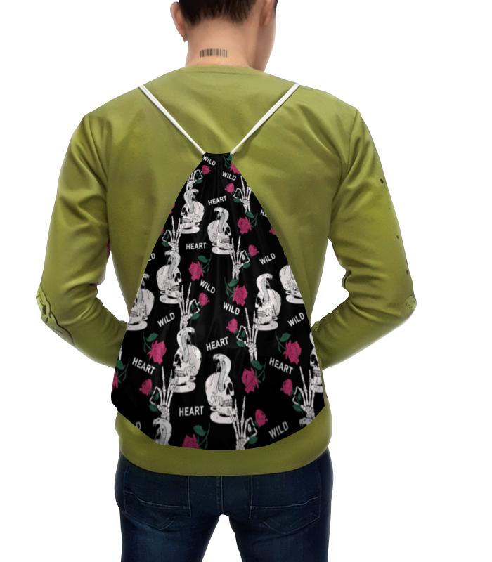 Printio Рюкзак-мешок с полной запечаткой Череп с цветами printio рюкзак мешок с полной запечаткой forest dreams pattern