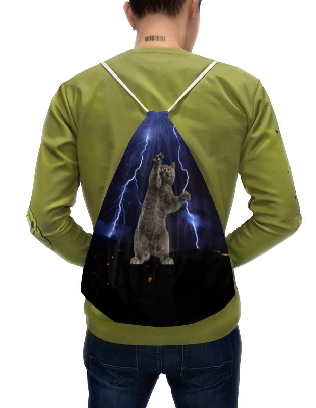 Фото - Printio Рюкзак-мешок с полной запечаткой Кот и молния printio рюкзак мешок с полной запечаткой китайские символы удачи и достатка