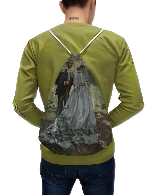 Фото - Printio Рюкзак-мешок с полной запечаткой Базиль и камилла (картина клода моне) printio часы круглые из пластика воздушные замки картина андерса цорна