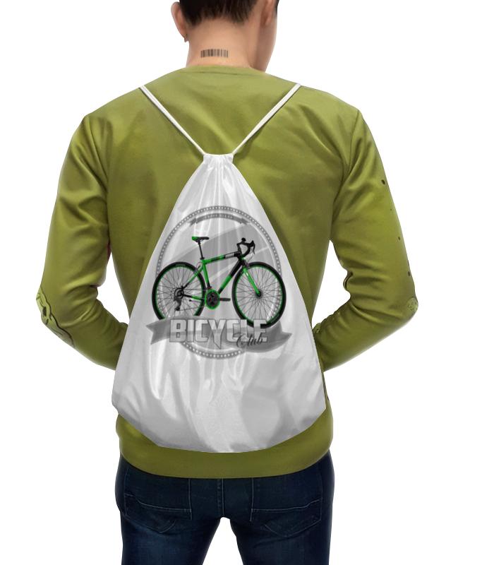 Printio Рюкзак-мешок с полной запечаткой Участник велосипедного соревнования.