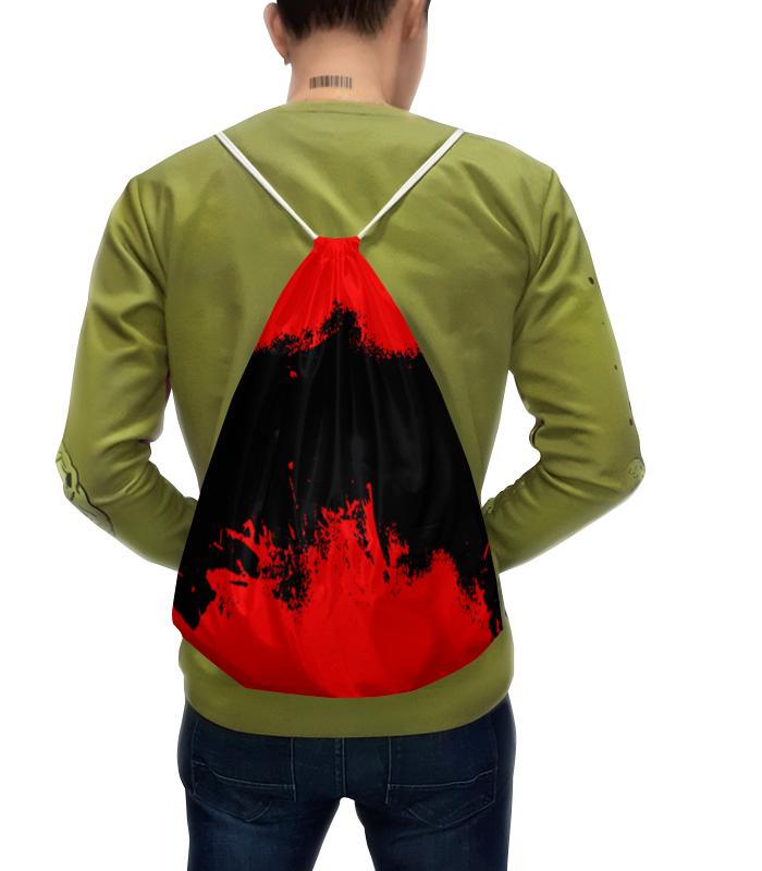 Фото - Printio Рюкзак-мешок с полной запечаткой Черно-красные краски printio рюкзак мешок с полной запечаткой сине красные краски