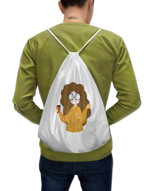 Фото - Printio Рюкзак-мешок с полной запечаткой Девочка с кофе printio рюкзак мешок с полной запечаткой грачи прилетели алексей саврасов