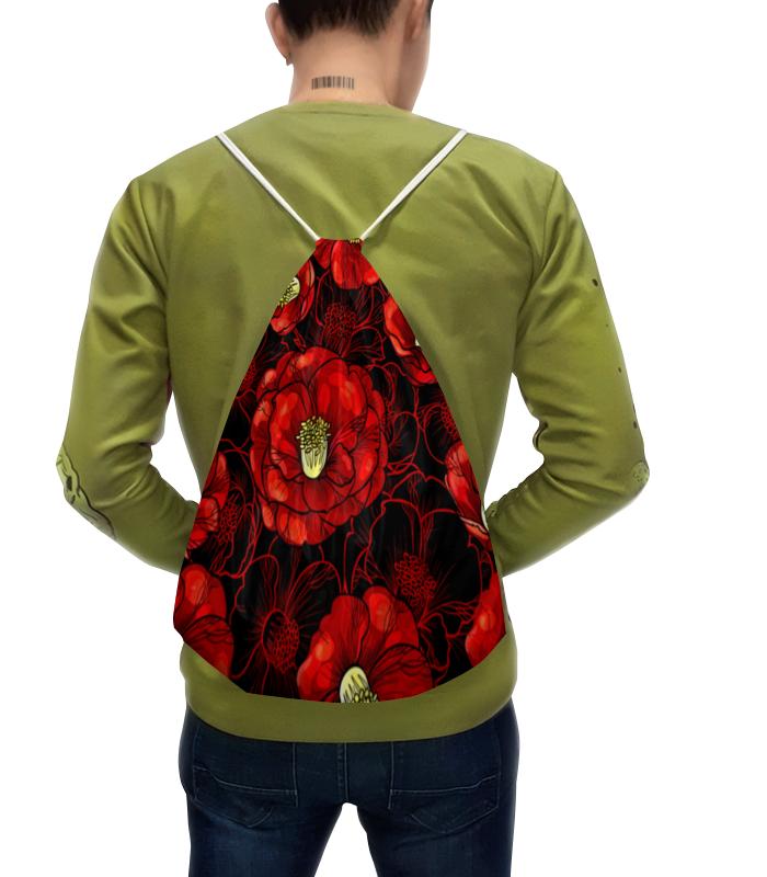 Printio Рюкзак-мешок с полной запечаткой Цветы мака